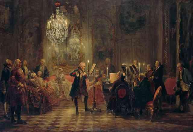 Concierto de flauta de Federico el Grande en Sanssouci (Adolph Menzel)