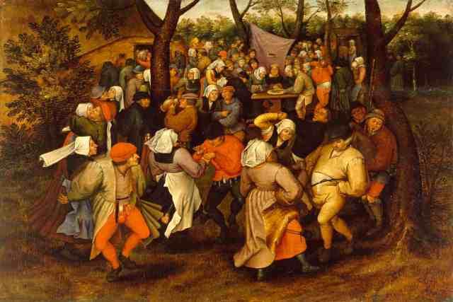"""Danza nupcial (Peter Brueghel """"El viejo"""", 1566)"""