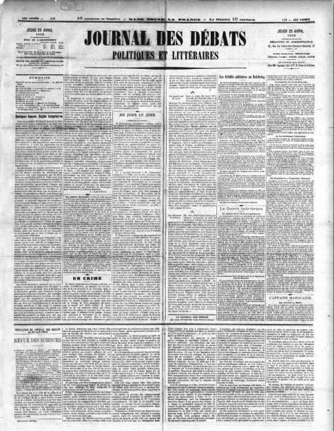 1912-04-25 le journal des debats 1