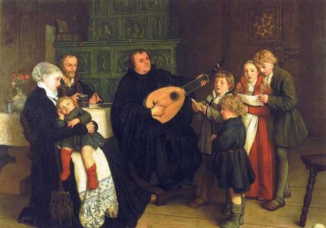 Martin Lutero en familia (G.A. Spangenberg, 1866)