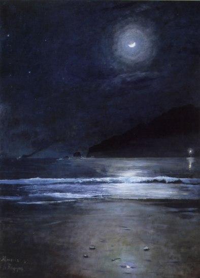 dario-regoyos-y-valdes-la-playa-de-almeria-de-noche