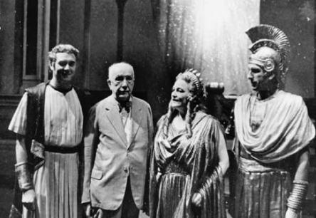 Representación privada de Die Liebe der Danae, 16/08/1944. Horst Taubmann, Richard Strauss, Viorica Ursuleac, y Hans Hotter.