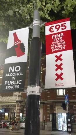 No Alcohol en la calle