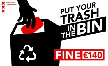 No tirar basura en la calle