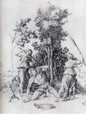 Muerte de Orfeo (Durero)