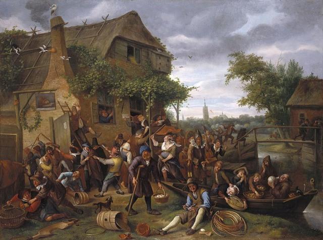 Una juerga en la aldea